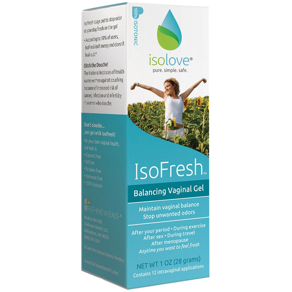 IsoFresh Vaginal Gel: For Odor Control and Balanced pH, 12 Applications, Paraben-Free, Clinically Shown to Decrease Odor Concerns and Lower Vaginal pH