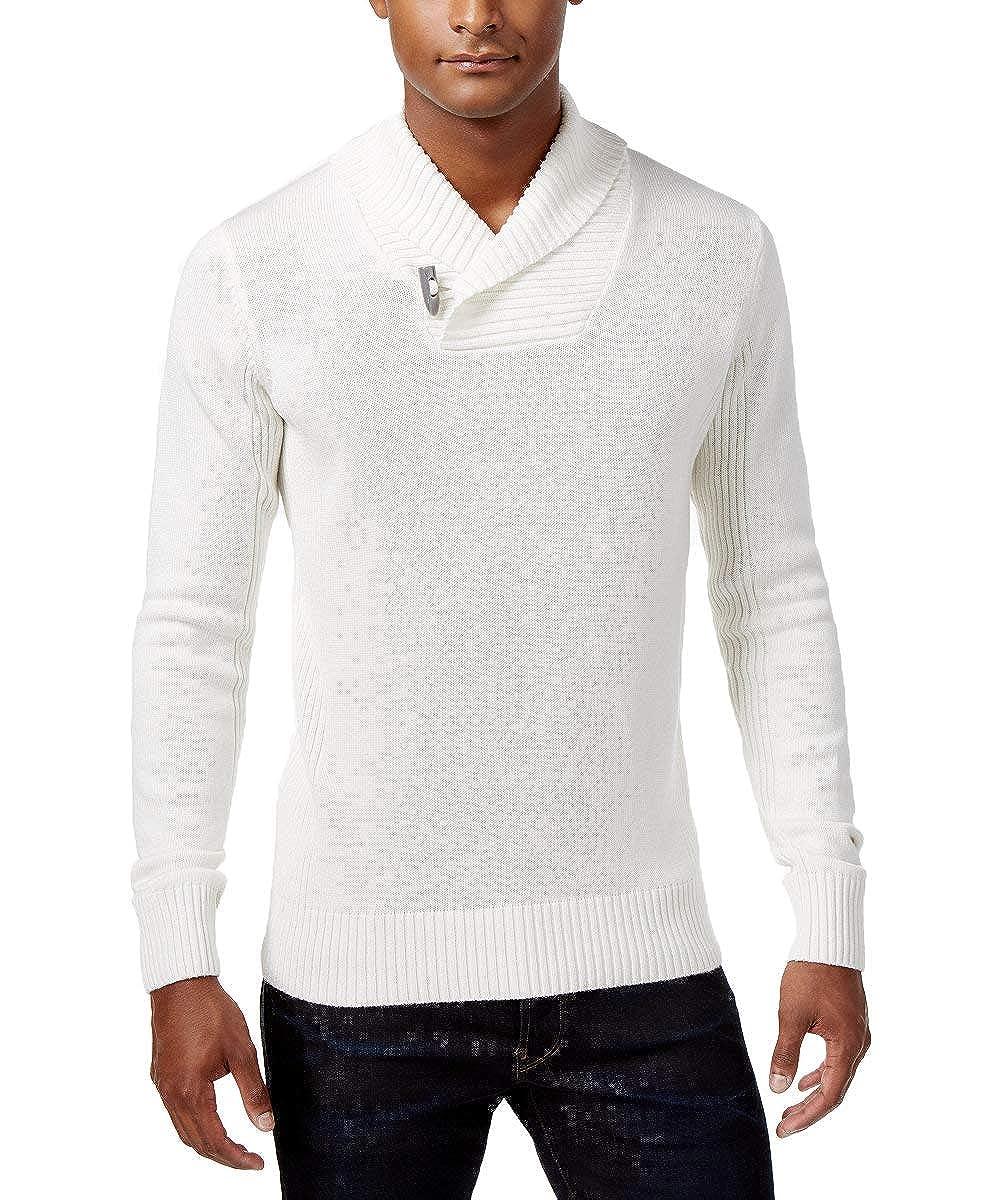 Cream, 3X-Large Sean John Mens Knit Shawl Collar Pullover Sweater