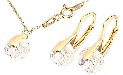 097f39dbc4ce Ah. Joyas Cristales de Swarovski® Briolette 2pcs Graceful 8 mm pendientes y  colgante