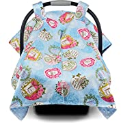 Premium Baby Car Seat Canopy and Nursing Cover 2 in 1 | All Season, Warm, Windproof, Sun and Bug Protection, Universal Fit, Boy or Girl |  Parisian Glam  Print with Minky Fabric