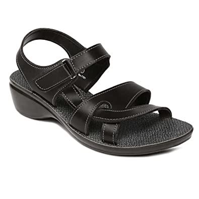 4e8c4ad5e340 PARAGON SOLEA Women s Black Sandals  Buy Online at Low Prices in ...