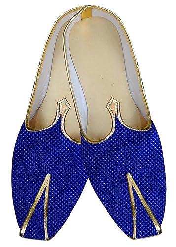 Mens Blue Wedding Shoes Threaded Box Design MJ015619