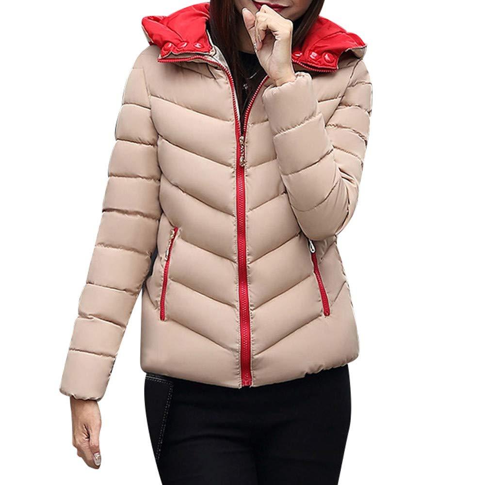 ❤ Abrigo Corto y Grueso para Mujer, Moda cálida Abrigo cálido de Invierno Chaqueta Gruesa, cálida y Delgada Abrigo Abrigo de Abrigo Outwear Absolute: ...