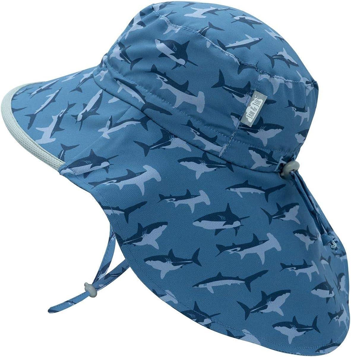 JAN & JUL Kids' GRO-with-Me Aqua-Dry Adventure Hat   50+ UPF Wide Brim Water-Repellent Sunhat