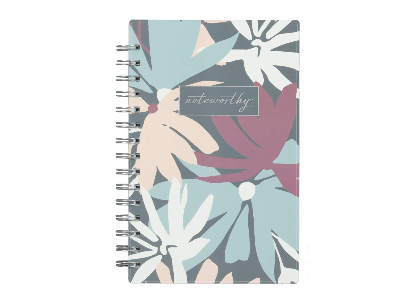 Blue Sky Noteworthy 2019-2020 Academic Year Weekly & Monthly Planner, Durable Flexible Cover, Silver-Tone Twin-Wire Binding, 5'' x 8'', Britt