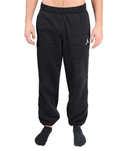 60db98bc849e Amazon.com  Nike Jumpman Brushed Oh Pants BLACK   WHITE  JORDAN ...