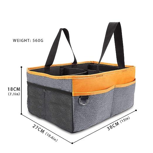 SONARIN Baby Windel Caddy Portable Organizer Handgehalten Faltbare Kinderzimmer Lagerung Windel Tasche mit auswechselbaren F/ächern,Best Baby Dusche Geschenk Korb Orange