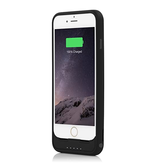 finest selection da4e2 1cd23 Incipio offGRID Battery Case for iPhone 6, iPhone 6S - Black