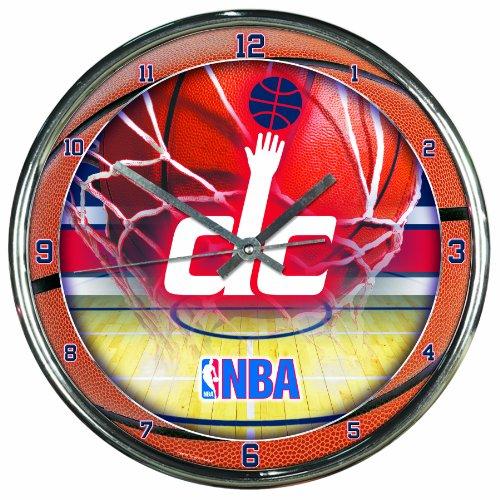 Washington Nationals Clock (NBA Washington Wizards Chrome Clock)