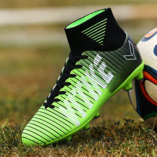 Littleplum-Kids-Soccer-Shoes-Football-Boots-Cleats-High-Top-With-Sock-For-Boy-Performance-Shock-buffer-Foot-Care-IndoorOutdoor-Little-KidBig-Kid