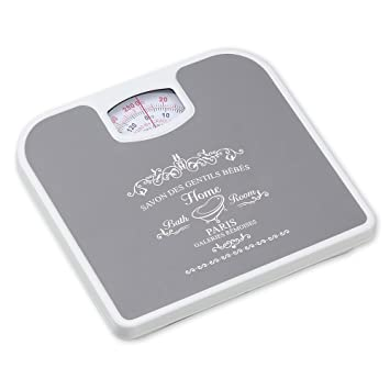 Home Basics Paris Inspired Mechanical Bathroom Bath Scale (Grey)