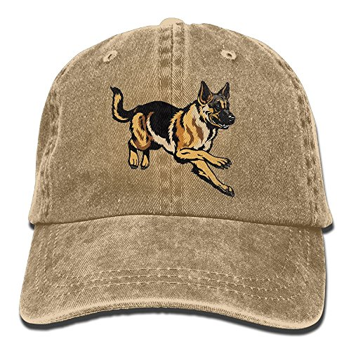 HNE&NQA Denim Baseball Cap Dog German Shepherd Men Women Golf Hats Adjustable Plain (German Shepherd Hat)