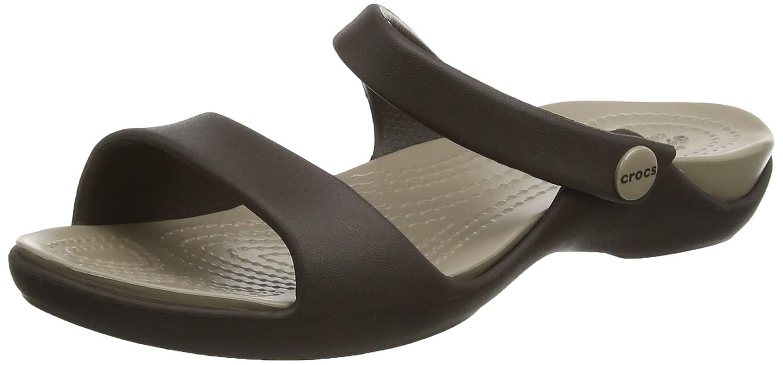 Crocs Cleo Crocs V Women, Sandales Bout Ouvert Femme B01E5E8AR6 Marron Ouvert (Espresso/Mushroom) 739728a - shopssong.space