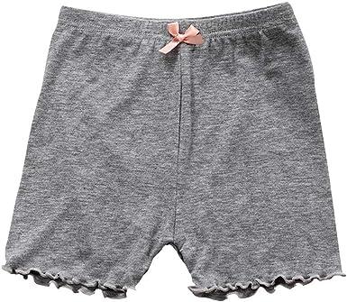 ESHOO Girls Bike Safety Shorts Solid Color Dress Shorts Dance Shorts