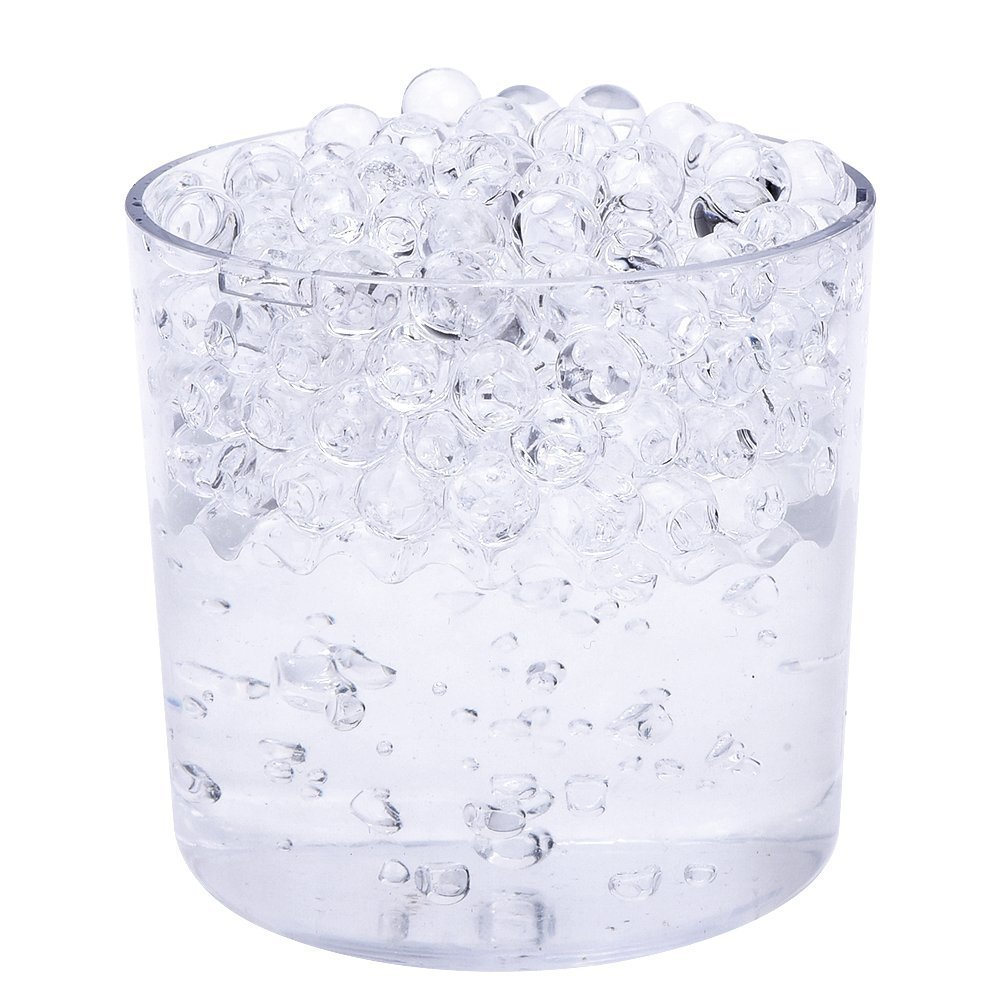 10 Packs Clear Gel Soil Water Beads Bio Aqua Gel Crystals Jelly Crystal Wedding Vase Decoration PHT
