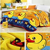"""Cute duck design 100% polyester blanket large size 70""""(W)x80""""(L)"""