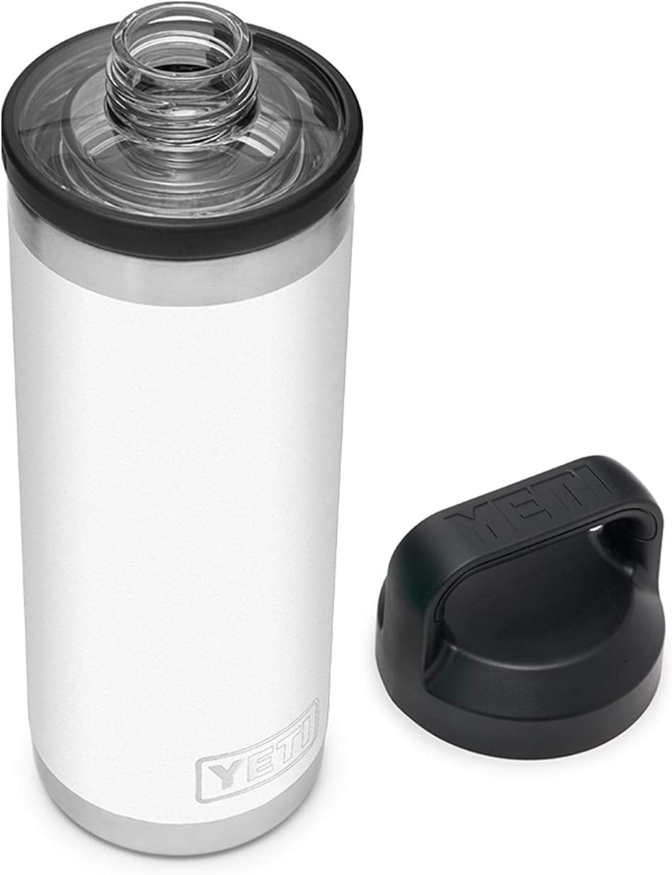 YETI Rambler 18 oz Bottle, Vacuum Insulated, Stainless Steel with Chug Cap