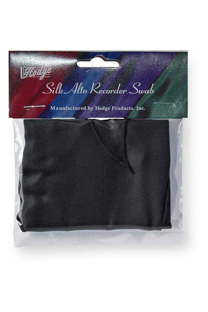 Hodge Silk Alto Recorder Swab - Black