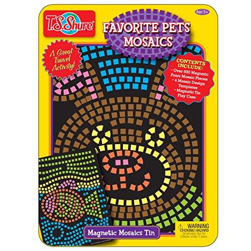 T.S. Shure Favorite Pets Mosaics Activity Tin Playset