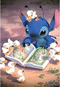 5D DIY Full Drill Diamond Painting Kit, Rhinestone Painting Kits for Adults and Children Embroidery Arts Craft Home Decor Cartoon Anime Series12 x 16 inch (Duck and Stitch, 30x40cm)