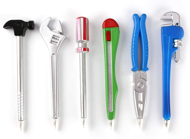 Zhi Jin 6Pcs Novelty Tool Pens Set Writing Ink Ballpoint Pen School Office Student Supplies Gift Kid Toy