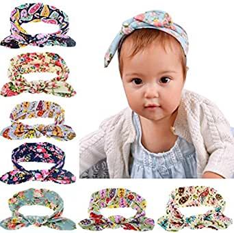 Qandsweet Baby Headbands for Babies, Toddlers and Children (8pack)