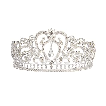 ANBALA Bridal Queen Tiara Crown Luxury Bling Crystal Bridal Headband Prom Queen