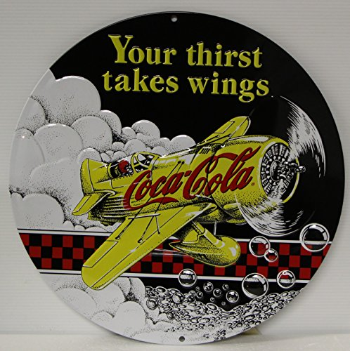 Coca Cola Gee Bee racer Metal Sign vintage style plane ad heavy embossed 3D style 14