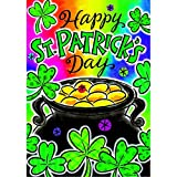 """""""Pot of Gold"""" – St.Patricks Day – STANDARD Size, 28 Inch X 40 Inch, Decorative Double Sided Flag Review"""