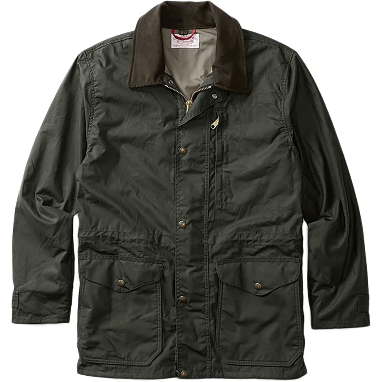 フィルソン アウター ジャケット&ブルゾン Filson Cover Cloth Mile Marker Coat Se Otter Gree p7s [並行輸入品] B079DJMNQN S