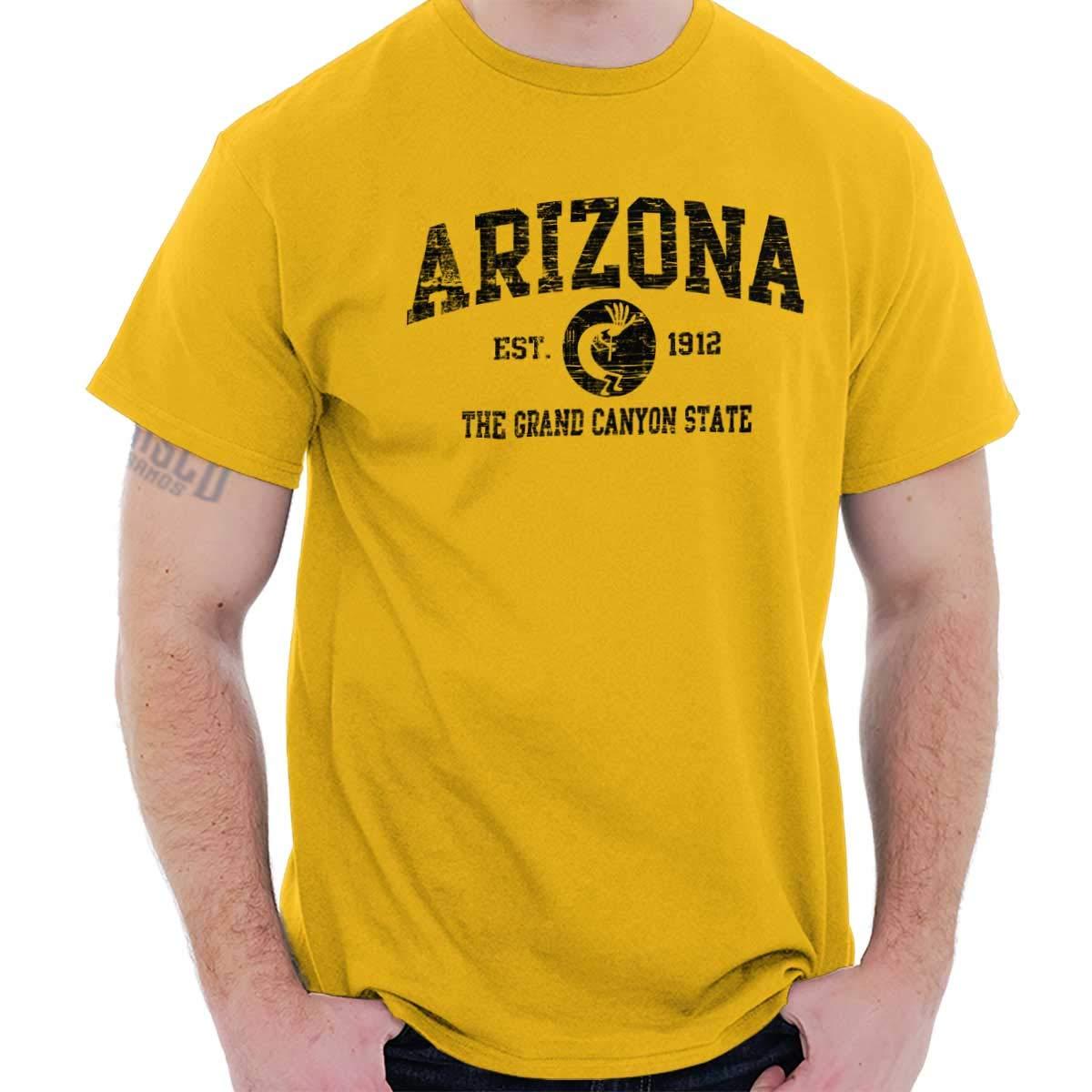 Arizona State Vintage Est Retro Hometown T Shirt Tee 1937