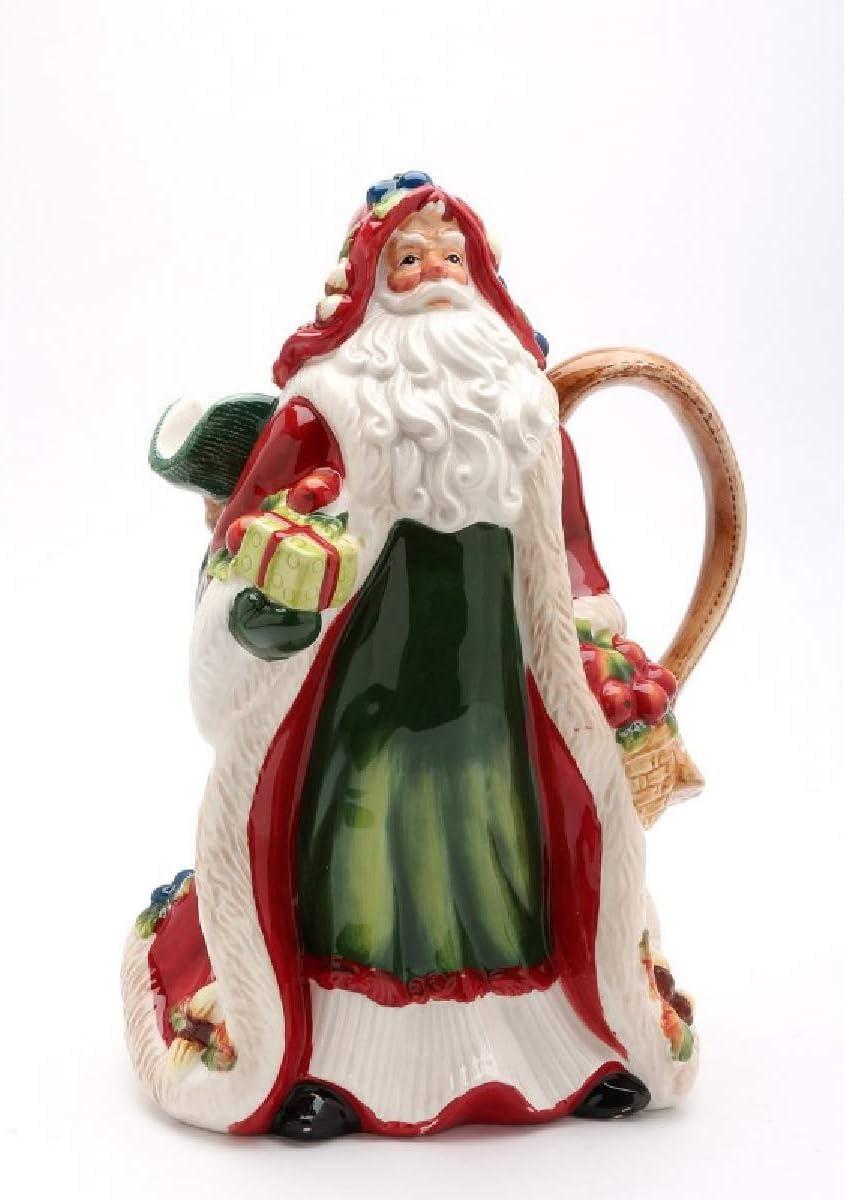 Multicolor Cosmos 10692 10-7//8 High Santa Ceramic Pitcher