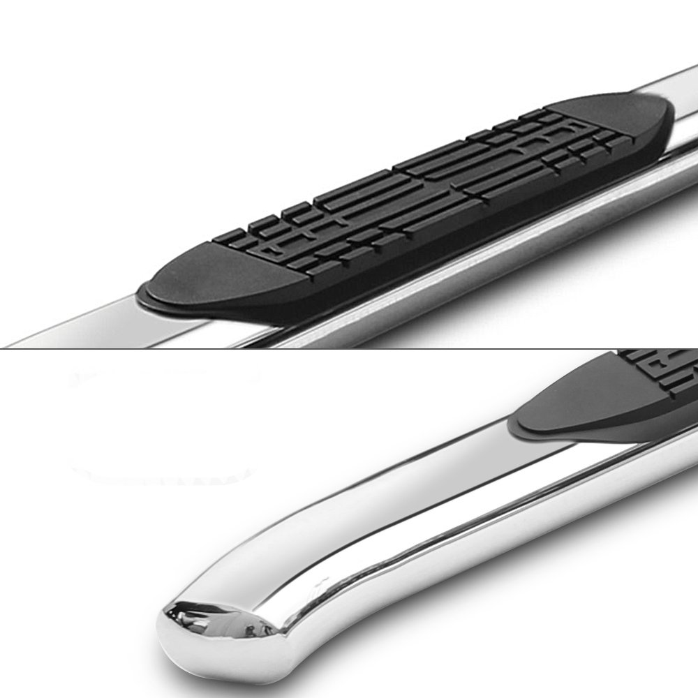 T304 Stainless Steel Shiny Chrome Super Cab 4 Inch Side Steps By IKON MOTORSPORTS Running Boards Fits 1999-2003 Ford F150 2000 2001 2002