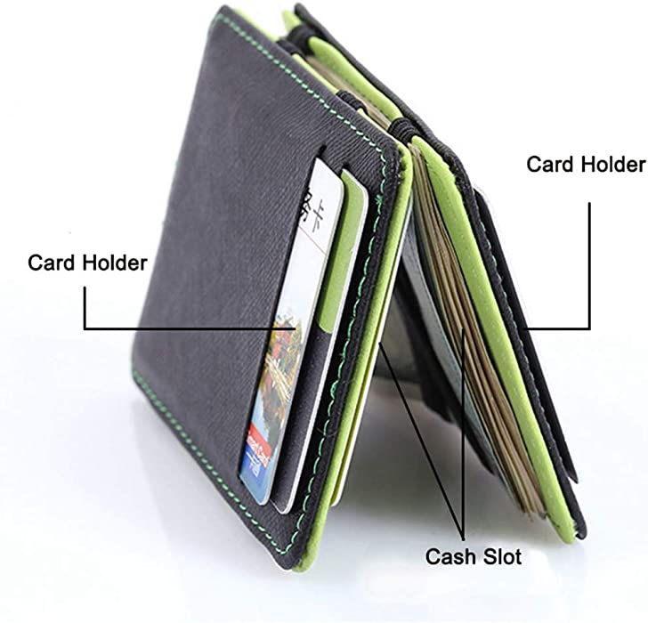 Minimalist Men Wallet Rfid Slim Card Organizer Purse Magic Carteras Minimalista