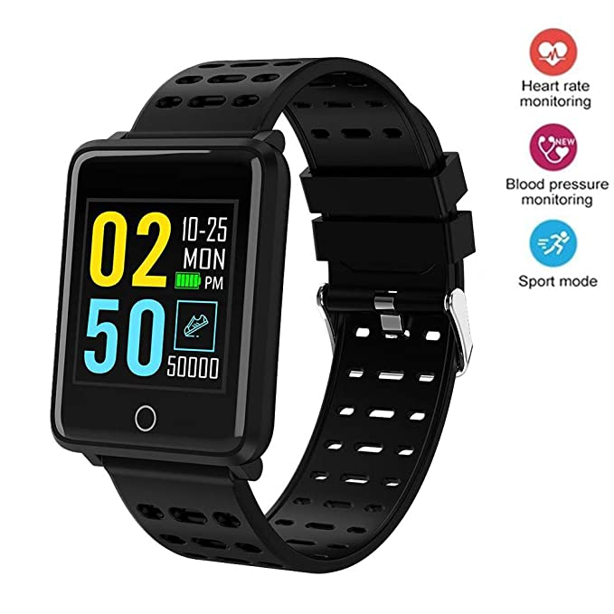 Onbio Waterproof Smartwatch - IP68 Waterproof Smart Watch Phone with Camera Games Sports Watches, Compatible with iOS and Android (Black)