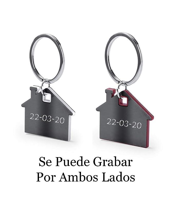 Llaveros Personalizados - Dos Llaveros Casas Parejas Compañeros Piso - Originales Grabados con Tus Nombres - Regalo Ideal Llaveros para Parejas ...