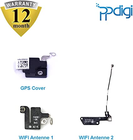 PPdigi WiFi antena GPS Cover para iPhone 7 Bluetooth Signal Modulo Flex Cable Amplificador (iPhone 7, WiFi Antenne + GPS Cover Set)