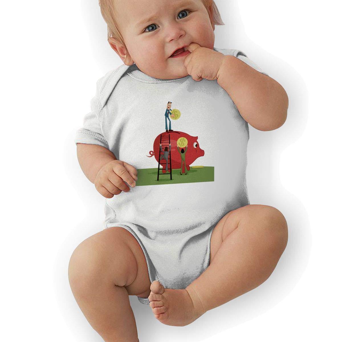 Infant Baby Boys Bodysuit Short-Sleeve Onesie Creative Business Print Rompers Autumn Pajamas