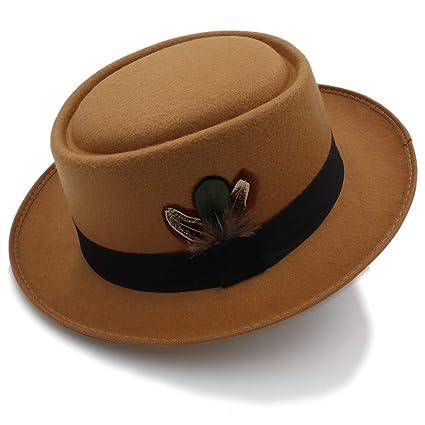 7988df3a3cc Image Unavailable. Image not available for. Color  YChoice A Superb hat  Classic Wool Felt Black Pork Pie Hat Porkpie Jazz Fedora ...