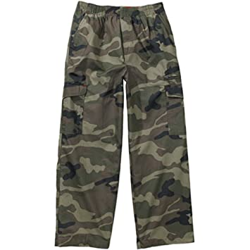 a31402fc0 Image Unavailable. Image not available for. Color: Faded Glory Boys' Pull  on Camo Cargo Pants ...