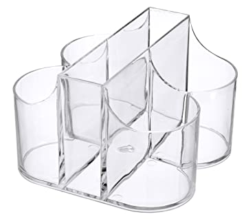 Lillian Tablesettings|Cutlery Caddy Organizer 5 Compartment - Silverware Organizer \u0026 Napkin Holder - Clear  sc 1 st  Amazon.com & Amazon.com: Lillian Tablesettings|Cutlery Caddy Organizer 5 ...