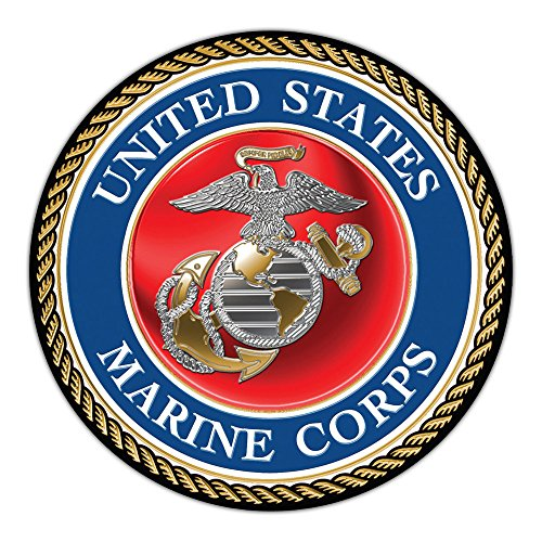 Corps Seal Marine United States (Giant Size Magnet - United States Marine Corp Official Seal (USMC Military) - Doors, Tailgates, Cars, Trucks - Huge 11.5