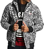 Ecko Unlimited Comics Allover Anorak Black White Jacket Jacke Übergangsjacke