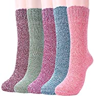 Jeasona Socks for Women Wool Socks Winter Warm Thermal Cute Colourful Pack Gifts for Women