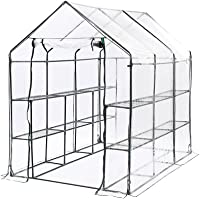 Levede 3 Tier Walk in Greenhouse Garden Shed PVC Cover Film Green House Tunnel