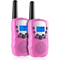 Gifts for 3-12 Year Old Girls, Selieve Walkie Talkies for Kids, 3 Mile Range, 22 Channels, Built in Flash Light, Best Toy Gift for Kids Ages 3yr – 6yr (1 Pair, Pink)