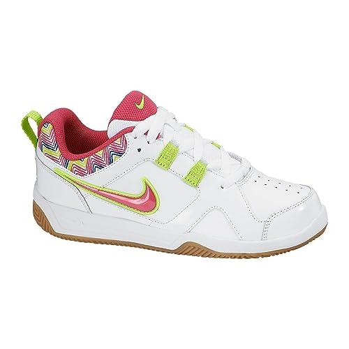 Nike - Nike Likin 11 Scarpe Sportive Bambina Pelle Bianche - Bianco, 38,5