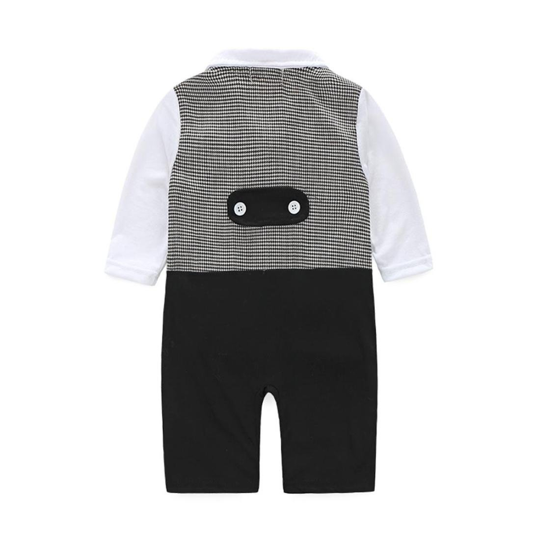 6 Months FEITONG Baby Boys Formal Party Christening Wedding Tuxedo Waistcoat Bow Tie Suit