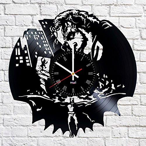 Joker Clock - Ma Va Joker Comics Supervillain Vinyl Record Wall Clock Gift for Fans Great Idea Home Decor DC Comics Vintage Decoration - Buy Gift for Everybody