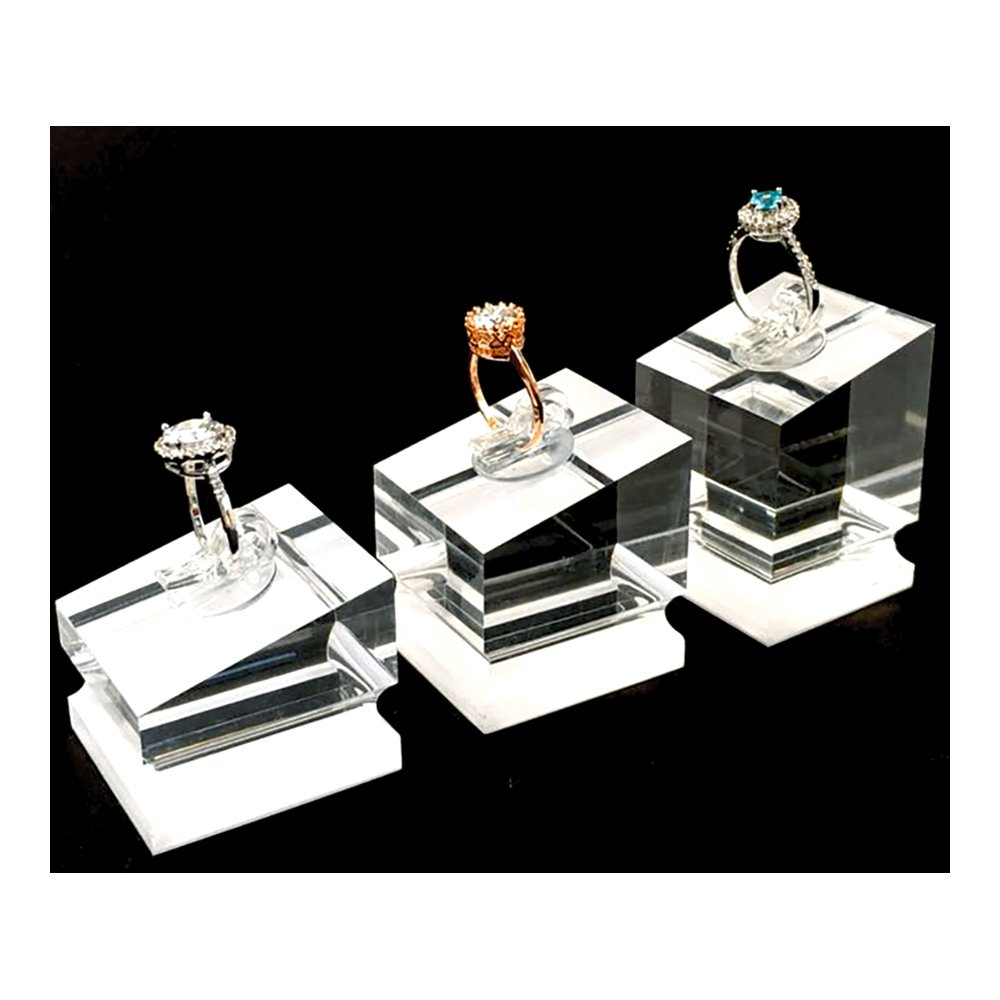 Ring Display Block Platform For Fine Jewelry Art Exhibition Store Gallery Trade Shows (Set of 3)